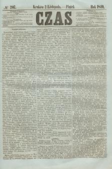 Czas. [R.2], № 207 (2 listopada 1849)