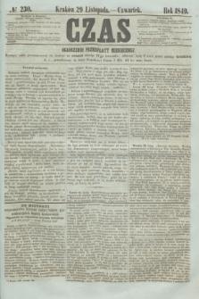 Czas. [R.2], № 230 (29 listopada 1849)