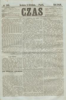 Czas. [R.2], № 242 (14 grudnia 1849)