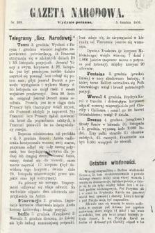 Gazeta Narodowa (wydanie poranne). 1870, nr309