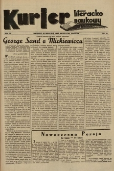 Kurjer Literacko-Naukowy. 1935, nr22
