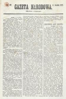 Gazeta Narodowa (wydanie wieczorne). 1870, nr319