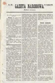 Gazeta Narodowa (wydanie wieczorne). 1870, nr335