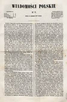 Wiadomości Polskie. R.4, 1857, nr7