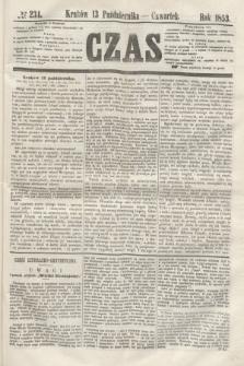 Czas. [R.6], № 234 (13 października 1853)