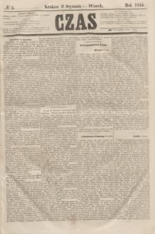 Czas. [R.8], № 5 (9 stycznia 1855)