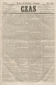 Czas. [R.8], № 13 (18 stycznia 1855)