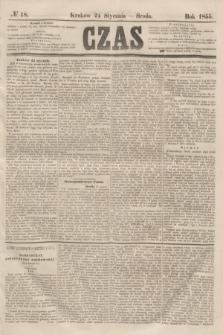 Czas. [R.8], № 18 (24 stycznia 1855)