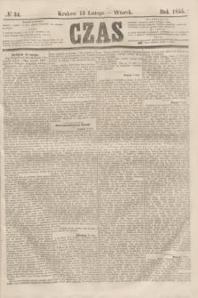 Czas. [R.8], № 34 (13 lutego 1855)