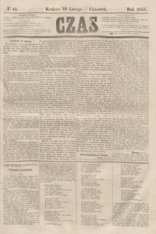 Czas. [R.8], № 42 (22 lutego 1855)