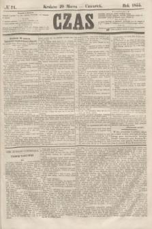 Czas. [R.8], № 71 (29 marca 1855)