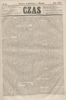 Czas. [R.8], № 75 (3 kwietnia 1855)