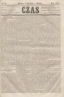 Czas. [R.8], № 79 (7 kwietnia 1855)