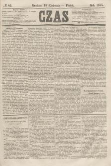 Czas. [R.8], № 83 (13 kwietnia 1855)