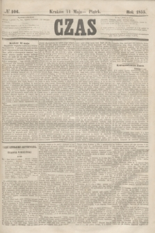 Czas. [R.8], № 106 (11 maja 1855)