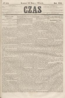 Czas. [R.8], № 114 (22 maja 1855)