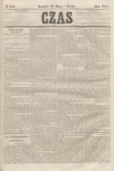 Czas. [R.8], № 115 (23 maja 1855)