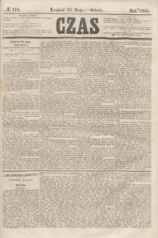 Czas. [R.8], № 118 (26 maja 1855)