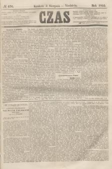 Czas. [R.8], № 176 (5 sierpnia 1855)
