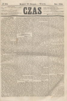 Czas. [R.8], № 194 (28 sierpnia 1855)