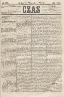 Czas. [R.8], № 205 (11 września 1855)