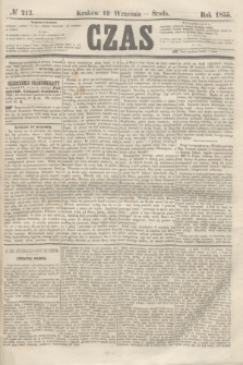Czas. [R.8], № 212 (19 września 1855)