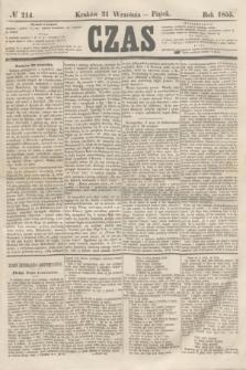 Czas. [R.8], № 214 (21 września 1855) + dod.