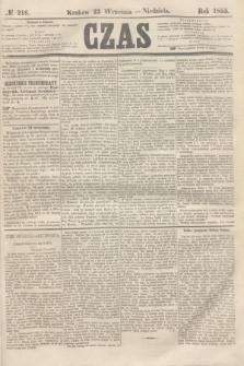 Czas. [R.8], № 216 (23 września 1855)