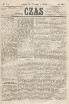 Czas. [R.8], № 218 (26 września 1855)