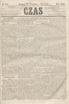 Czas. [R.8], № 219 (27 września 1855)