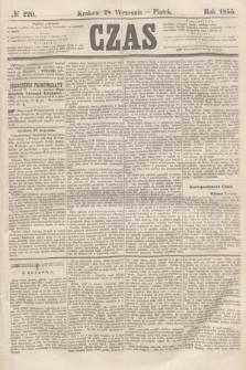 Czas. [R.8], № 220 (28 września 1855)