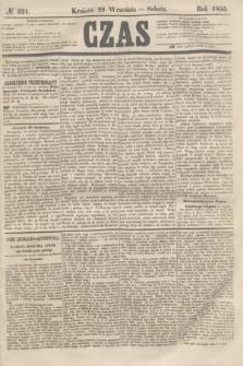 Czas. [R.8], № 221 (29 września 1855) + dod.