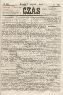 Czas. [R.8], № 253 (7 listopada 1855)