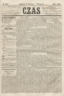 Czas. [R.8], № 275 (2 grudnia 1855) + dod.