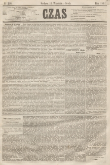 Czas. [R.14], Ner 208 (11 września 1861)