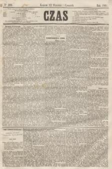 Czas. [R.14], Ner 209 (12 września 1861) + dod.