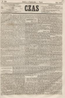 Czas. [R.14], Ner 228 (4 października 1861)
