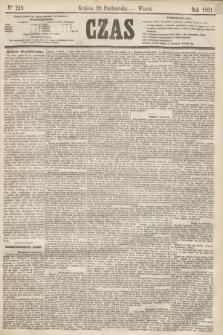 Czas. [R.14], Ner 249 (29 października 1861)