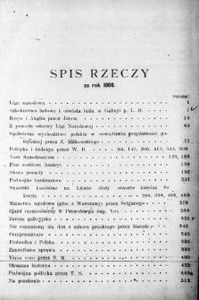 Przegląd Wszechpolski : miesięcznik polityczny ispołeczny. 1900, spis rzeczy