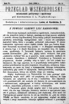 Przegląd Wszechpolski : miesięcznik polityczny ispołeczny. 1900, nr2