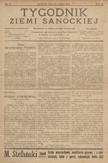 Tygodnik Ziemi Sanockiej. 1911, nr8