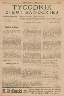 Tygodnik Ziemi Sanockiej. 1911, nr17