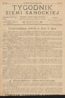 Tygodnik Ziemi Sanockiej. 1911, nr28