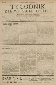 Tygodnik Ziemi Sanockiej. 1911, nr34