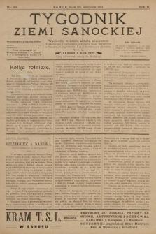 Tygodnik Ziemi Sanockiej. 1911, nr35