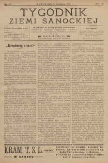 Tygodnik Ziemi Sanockiej. 1911, nr37