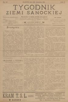 Tygodnik Ziemi Sanockiej. 1911, nr40