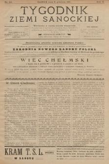 Tygodnik Ziemi Sanockiej. 1911, nr50