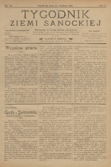 Tygodnik Ziemi Sanockiej. 1911, nr52