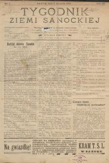 Tygodnik Ziemi Sanockiej. 1912, nr1